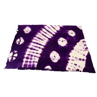 Magenta, Blue, Violet & White Mud-Cloth Textile