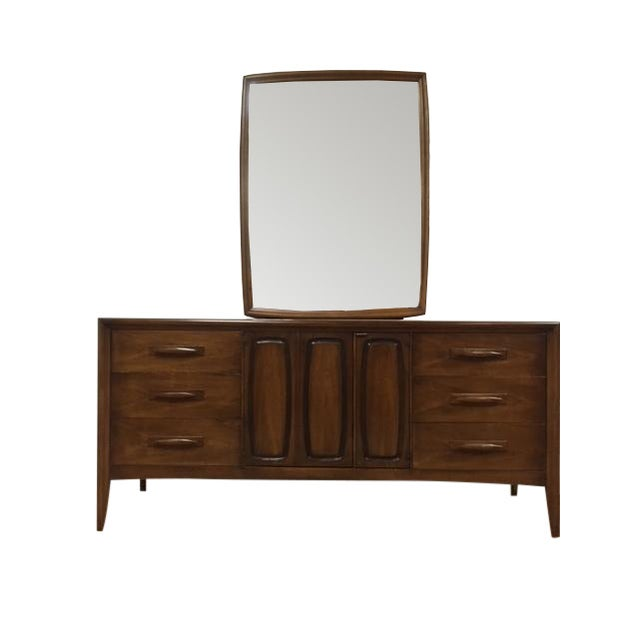 Broyhill Emphasis Mid-Century Dresser & Mirror - Image 1 of 9