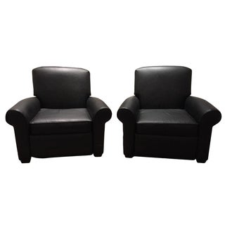 Restoration Hardware Lowell Club Chairs - A Pair