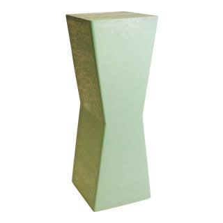 Mid-Century Modern Teal Bowtie Pedestal Stand