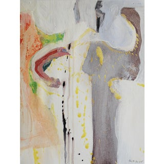 1965 Abstract Expressionist Painting by Selma Moskowitz