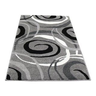 Gray Swirl Design Small Rug- 2′8″ × 5′ Kitchen Rug Runner