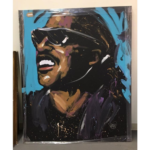 Stevie Wonder Original Painting by David Garibaldi - Image 2 of 4