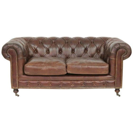 Tufted Brown Leather Chesterfield Sofa Chairish