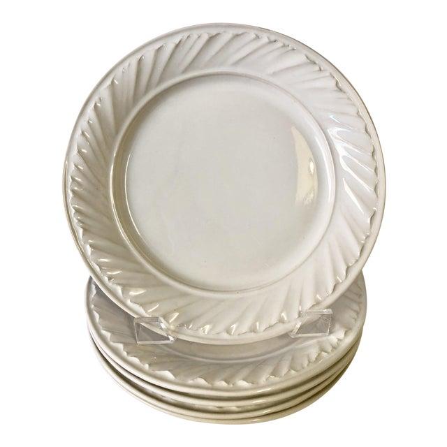 White Simon Pearce Dinner Plates - Set of 4 - Image 1 of 5