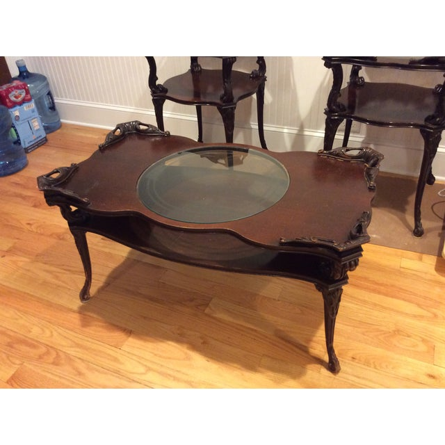 """Chippendale """"Looking Glass"""" Coffee Table - Image 2 of 4"""