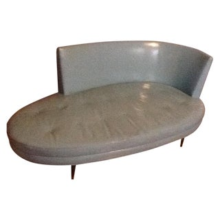 Moderne Leather Chaise Longue