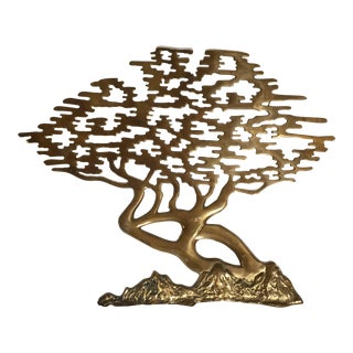 Mid-Century Brass Bonsai Tree