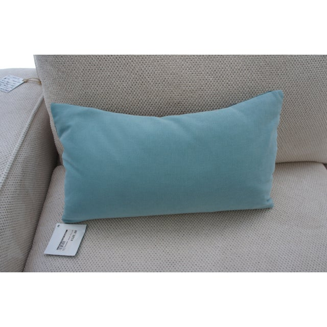 Image of Blue Striped Throw Pillow