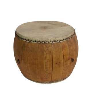 Reclaimed Wood & Leather Top Drum