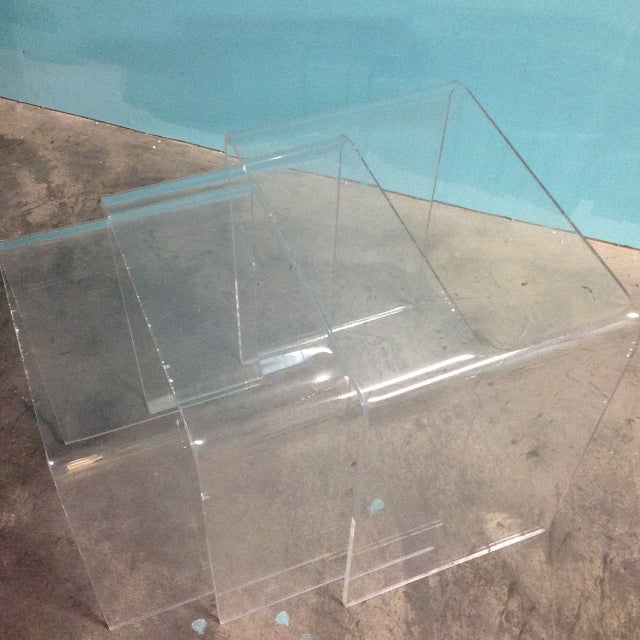 Vintage Lucite Nesting Tables - Image 2 of 4