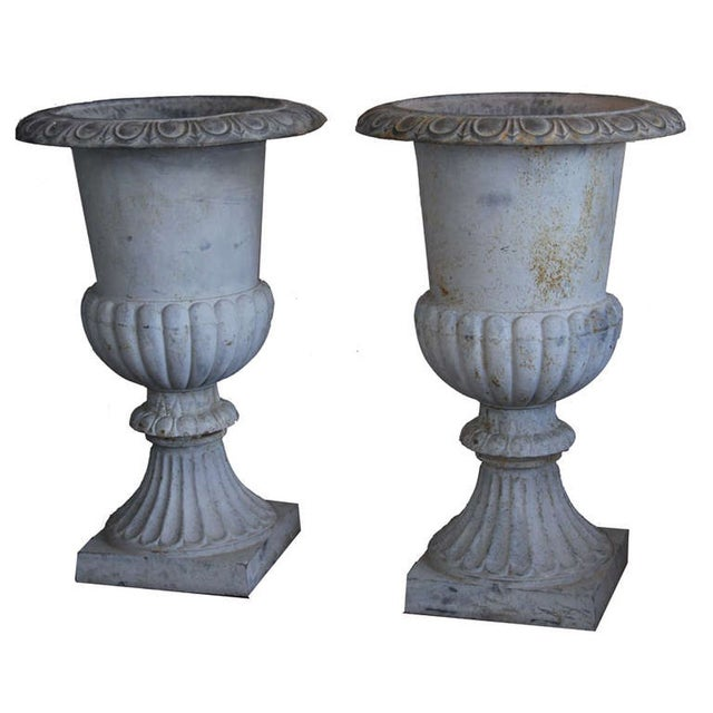 Monumental French Urns - A Pair - Image 2 of 5