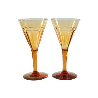 French Champagne Glasses - A Pair