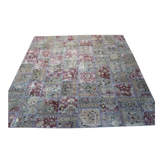 "Turkish Vintage Patchwork Rug - 9'10"" X 10'"