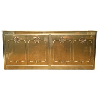 Mastercraft Brass & Walnut Buffet