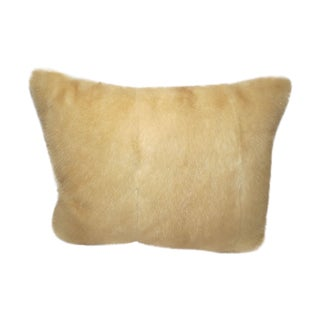 Beige Mink Fur Pillow
