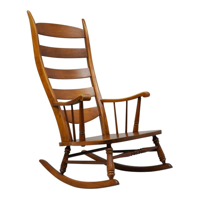 Mid-Century Tell City Maple Sculptural Ladder Back Rocking Chair - Image 1 of 11