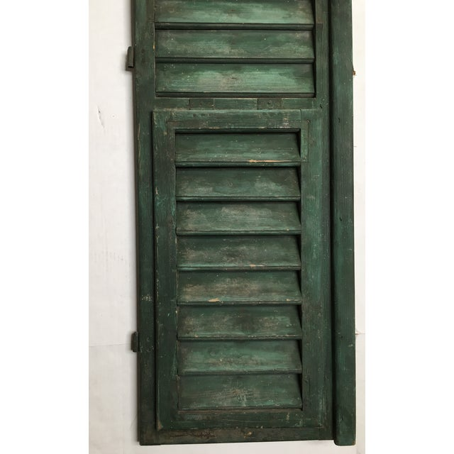 Vintage French Louvered Shutters - A Pair - Image 6 of 9