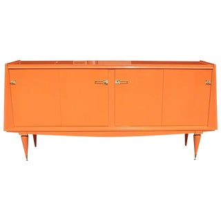 Art Deco Modern Orange Sideboard