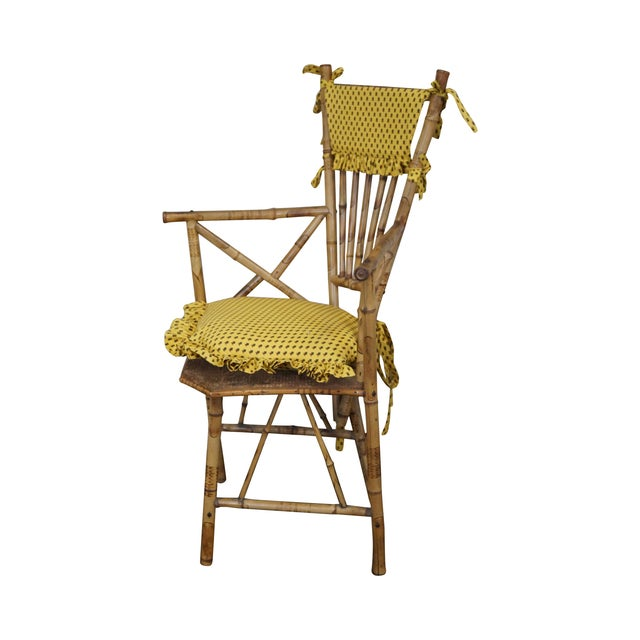 Antique 19th C. Victorian Bamboo Corner Chair - Image 1 of 10