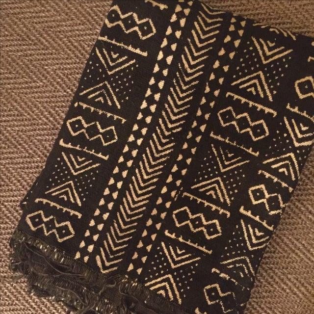 Black & Ivory African Mud Cloth - Image 3 of 5