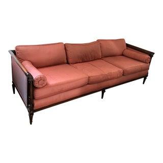 Beautiful Vintage Settee Upholstered in Silk
