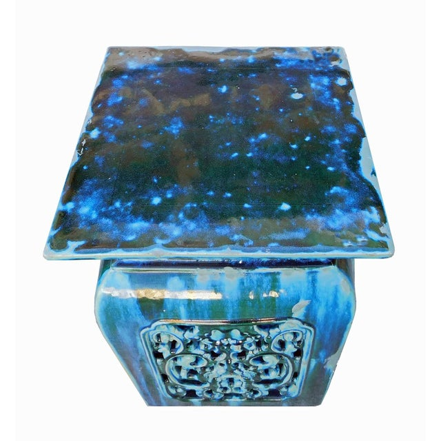Chinese Ruyi Turquoise Ceramic Garden Stool Chairish