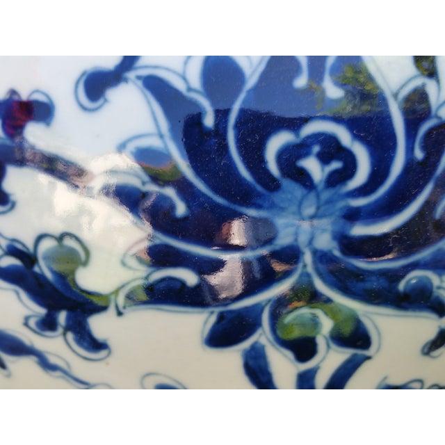 Hand-Painted Chinoiserie Urns- A Pair - Image 4 of 5