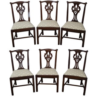 Henkel Harris Chippendale Dining Chairs - Set of 6