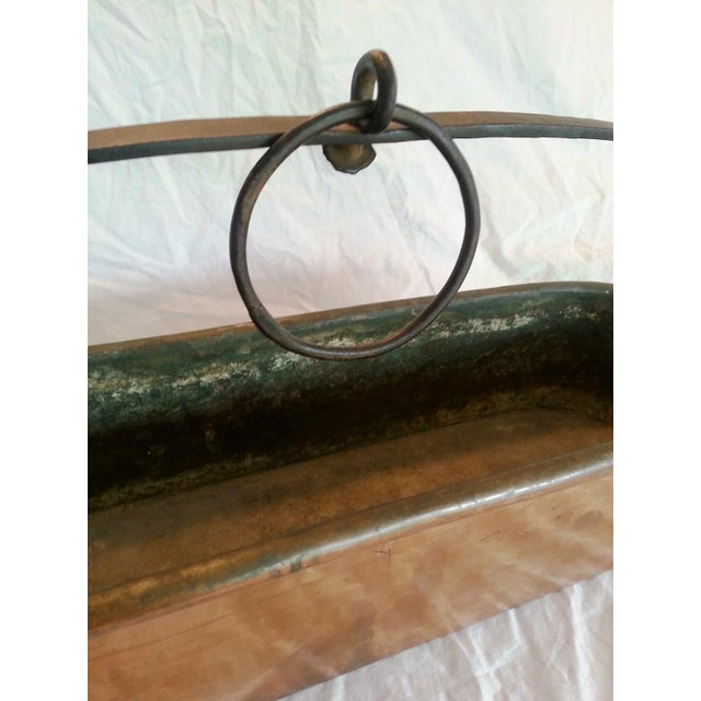 Image of Vintage French Copper Hanging Planter