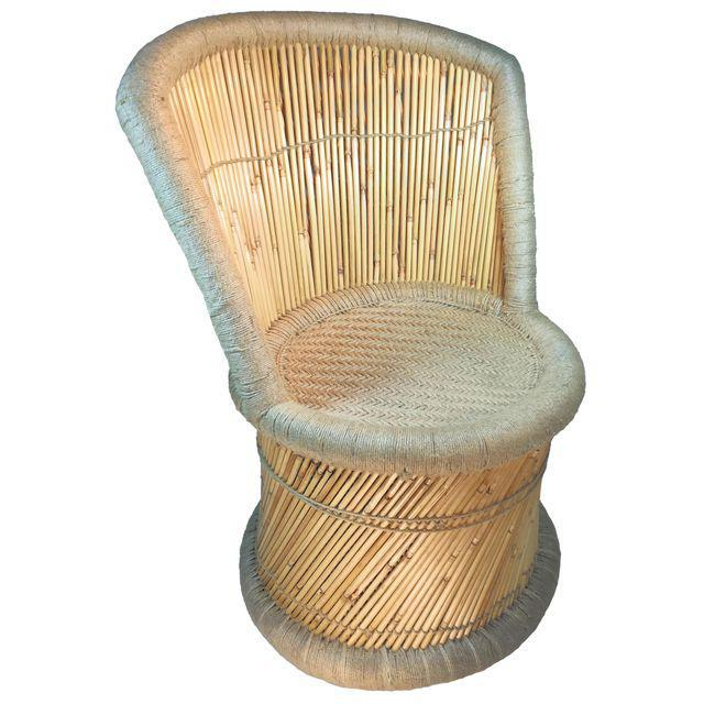 Handmade Reed & Jute Vintage Accent Chairs - a Pair - Image 4 ...