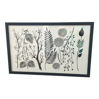 Black and White Botanical Print