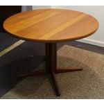 Image of Mid Century Modern Teak Pedestal Dining Table