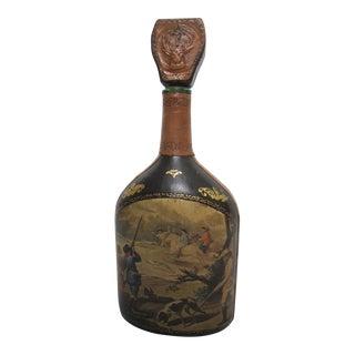 Italian Leather Liquor Decanter