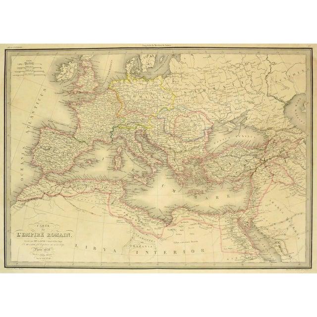 Antique Roman Empire Map, 1838 - Image 1 of 4