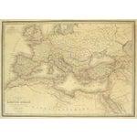 Image of Antique Roman Empire Map, 1838