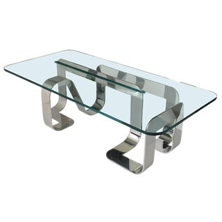 Gary Gutterman Sculptural Polished Steel Jason Coffee Table