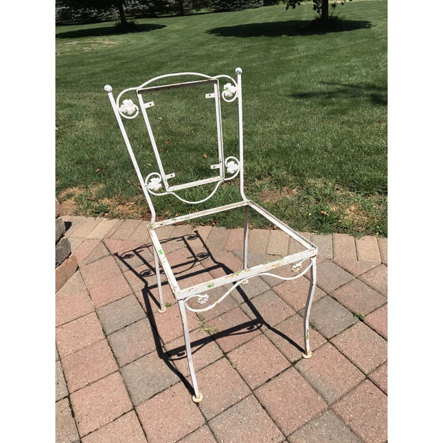 Vintage Wrought Iron Chairs - Set of 4 - Image 4 of 8