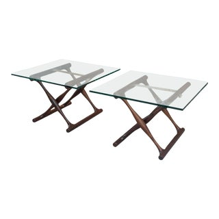 Poul Hundevad Rosewood Side Tables - A Pair