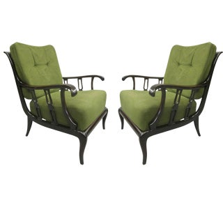 Important Pair of Italian Armchairs by Paolo Buffa