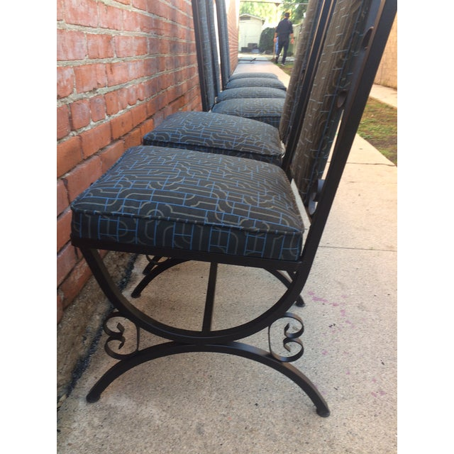 Midcentury Spanish Revival Dining Chairs - Set of 6 - Image 6 of 8