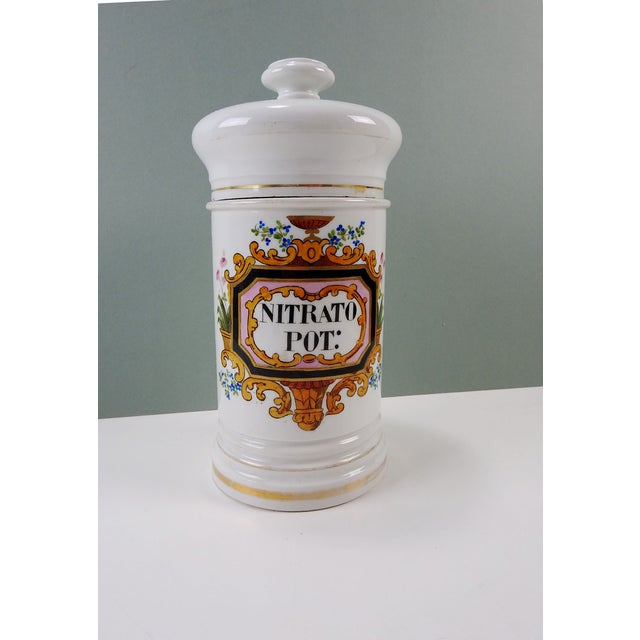 Antique French Porcelain Apothecary Jar 1880's - Image 2 of 5