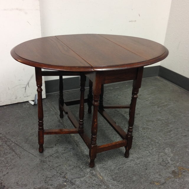 Vintage Convertible Occasional Table - Image 3 of 10