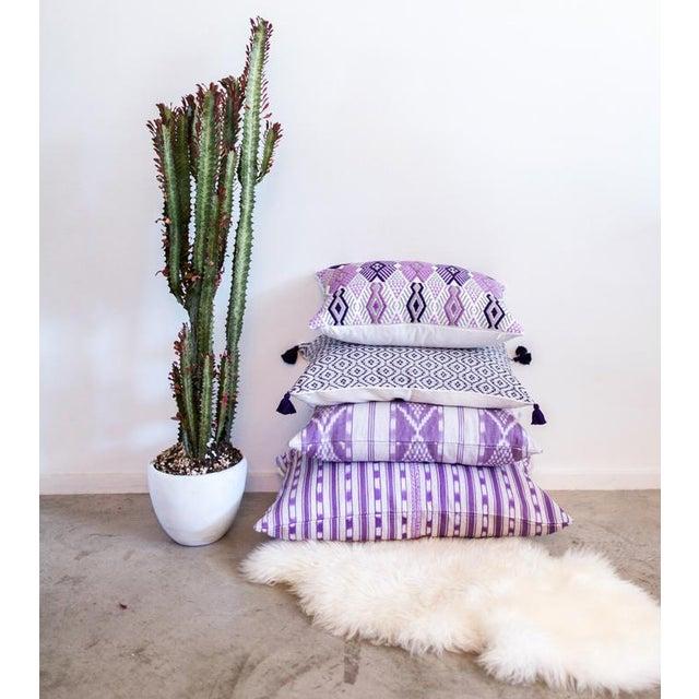 Lilac Purple Ikat Guatemalan Pillow - Image 7 of 7