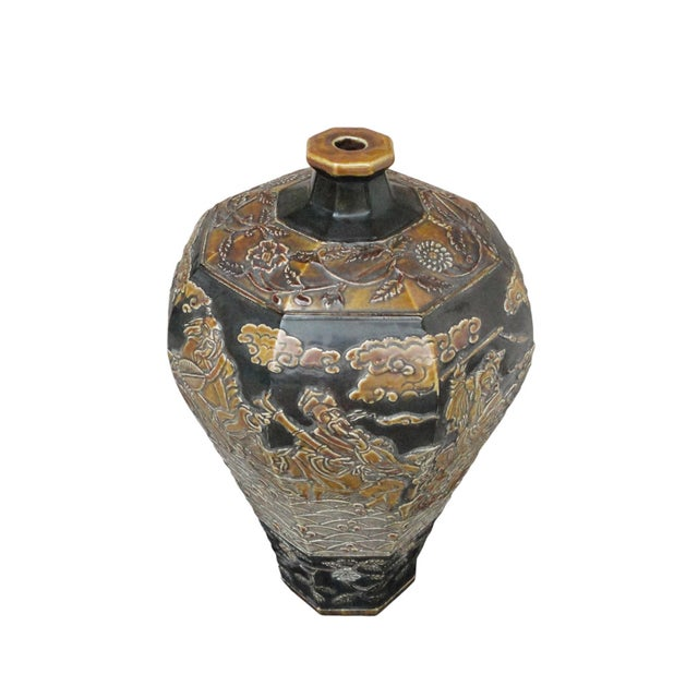 Chinese Eight Immortals Octangle Porcelain Vase - Image 2 of 10