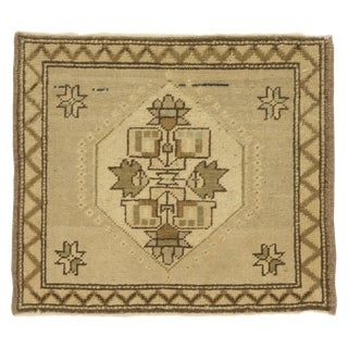 Vintage Turkish Yastik Rug - 1′6″ × 1′9″