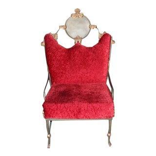 Custom Red Velvet Chair