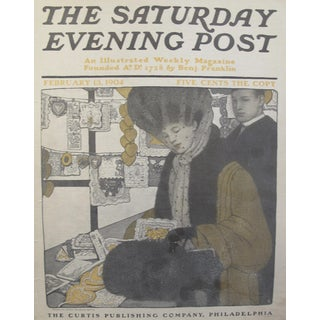 1904 Romantic Saturday Evening Post Cover, Valentines