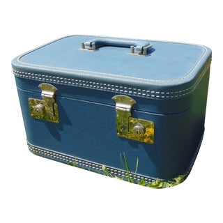 Vintage Blue Train Case
