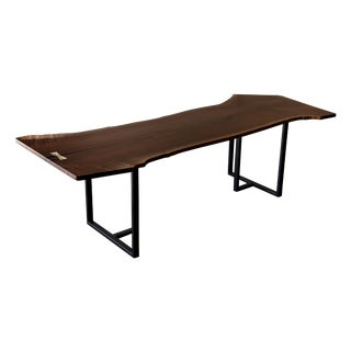 Modern Black Walnut Live Edge Dining Table / Table